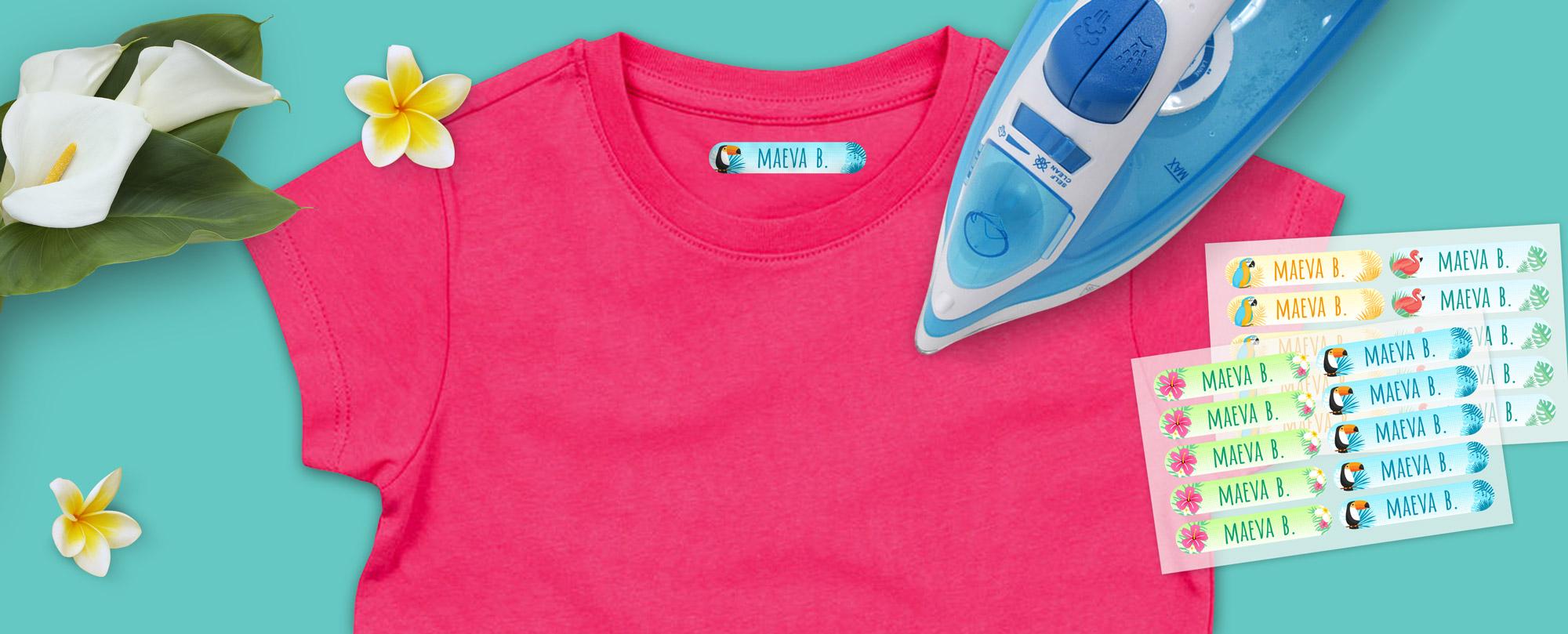 étiquette vêtement thermocollante